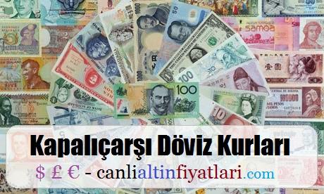 Kapalıçarşı döviz kurları kapalıçarşı dolar ve euro kurları